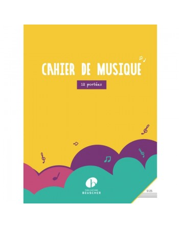 CAHIER SIMPLE 12 PORTEE SPIRAL