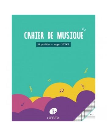 CAHIER MUSIQUE PORTEES +...